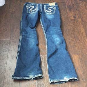 Twisted silver jeans 29x33
